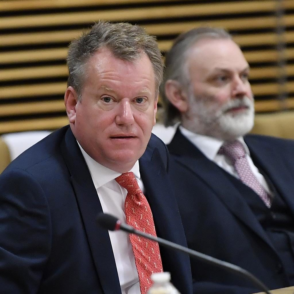 Not a civil servant: Chief EU negotiator David Frost (left) succeeds Sir Mark PICTURE: AP