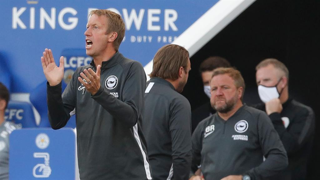Brighton's Graham Potter wary over Manchester United hex at Amex			 				     by Dave Filmer    Published