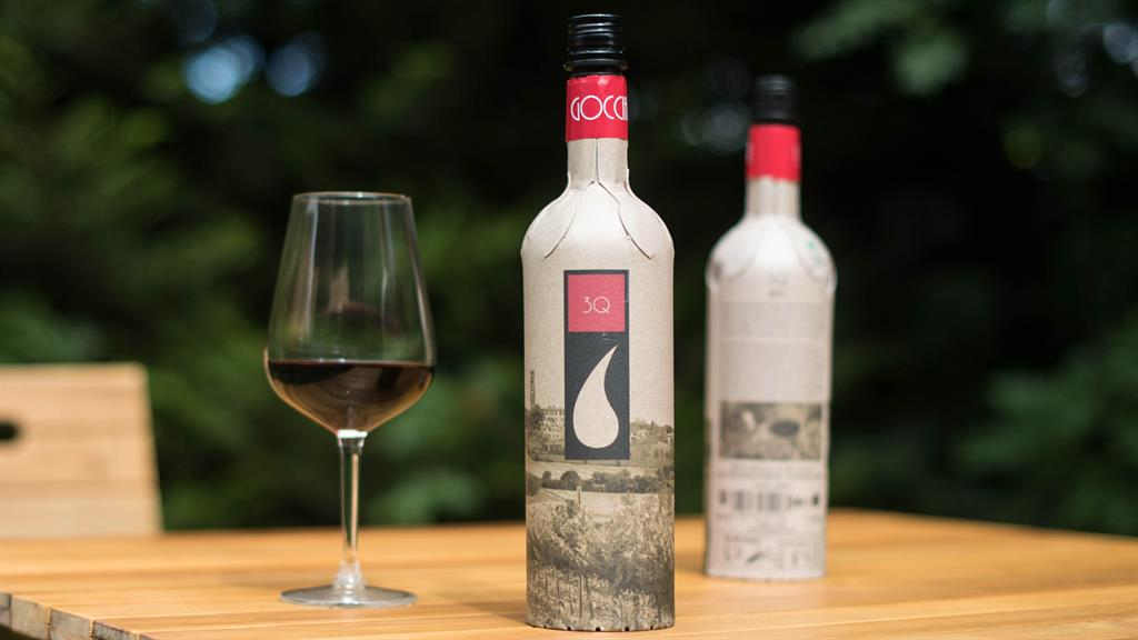 Sustainable: The bottle, made from recycled paperboard, is much lighter to transport PICTURE: PA