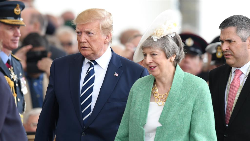 Trump reportedly called Theresa May 'weak' and Angela Merkel 'stupid'