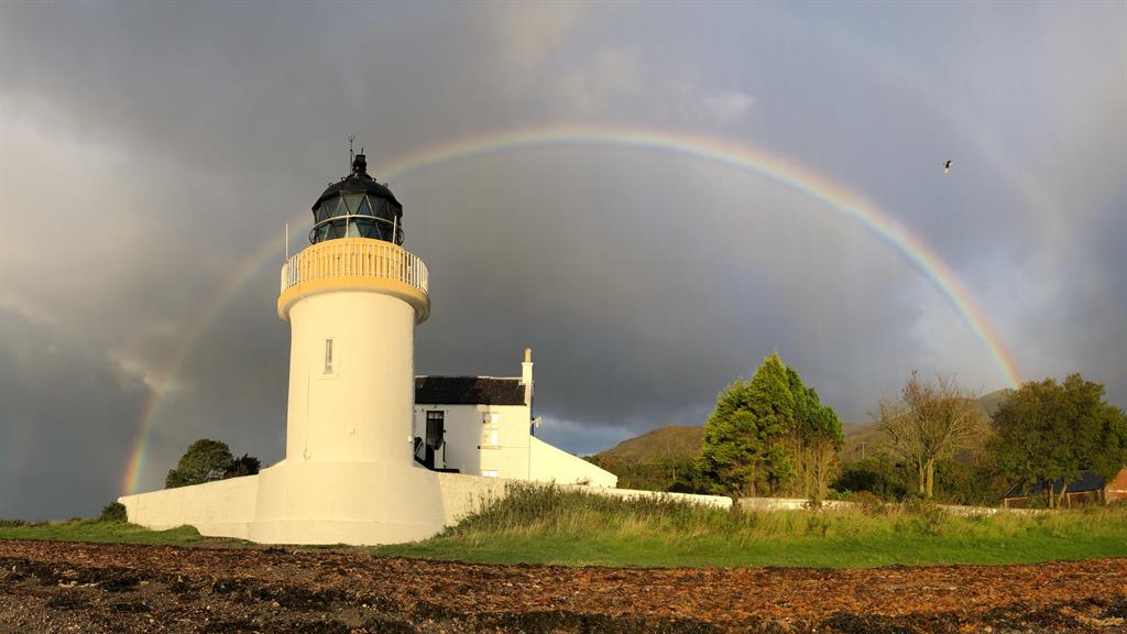 Ray of light: Corran Lighthouse in the Scottish Highlands