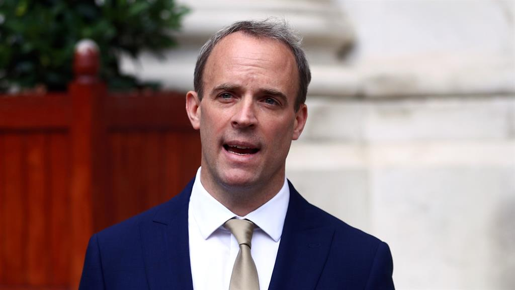 Sanctions: Dominic Raab PICTURES: REUTERS/GETTY