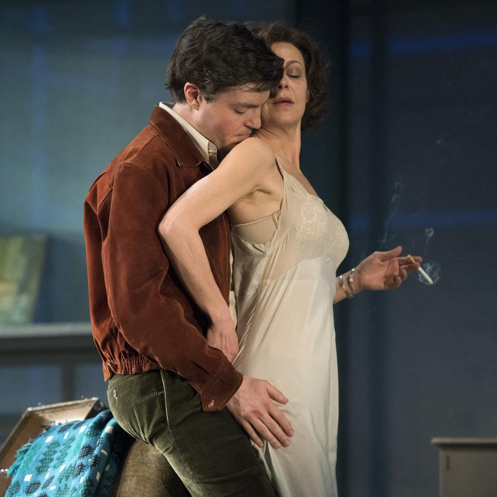 Pitchperfect: Tom Burke and Helen McCrory PICTURE: RICHARD SMITH