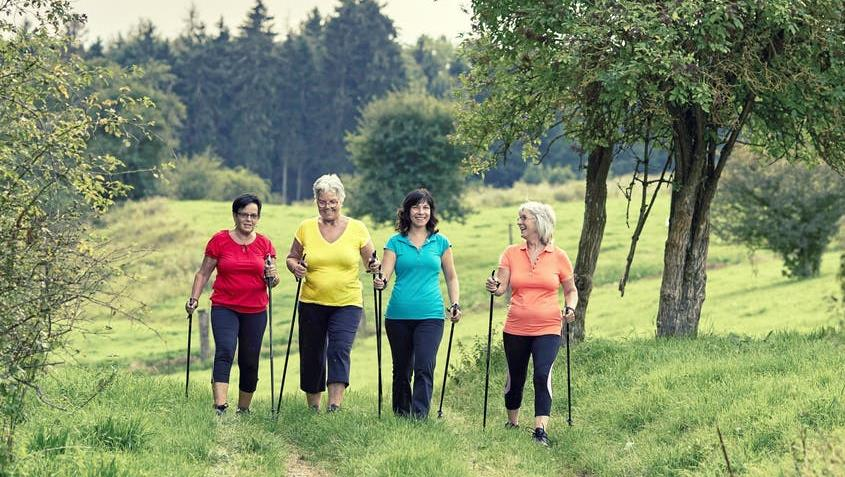 Go with the 'flow': Exercising with friends is one way of protecting your health as you age PICTURE: JENNY STURM/SHUTTERSTOCK