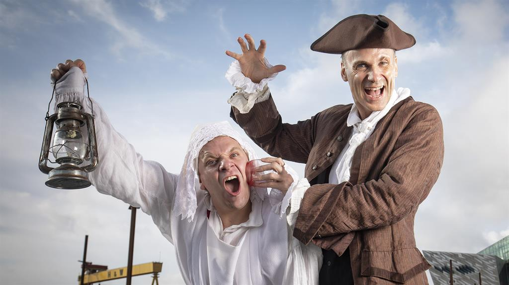 Good Nightingale: Neal (right) and Morgan Philpott in the quirky take on history, featuring the likes of Henry VIII (below)