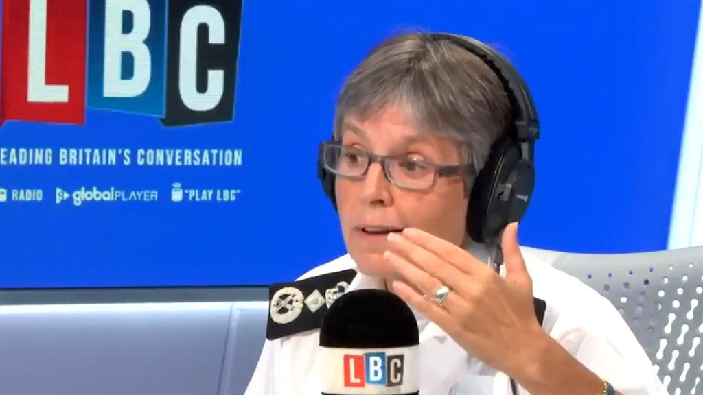 'Law is the law': But Dame Cressida Dick says calling police is last resort for shops if customers won't cover up PICTURE: LBC