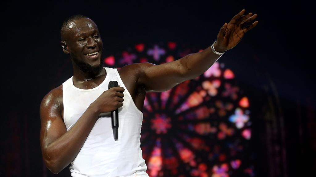 Second time lucky?: Stormzy has been nominated before and faces stiff competition from the likes of Dua Lipa, below PICTURES: PA