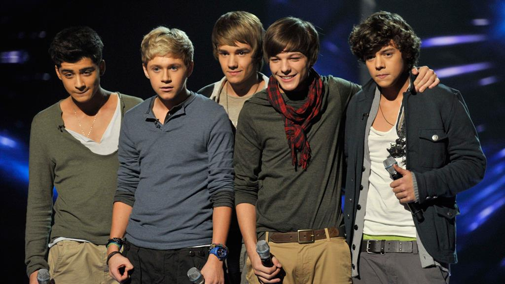 Young Ones:  Liam (centre) with 1D in 2010 PICTURE: REX