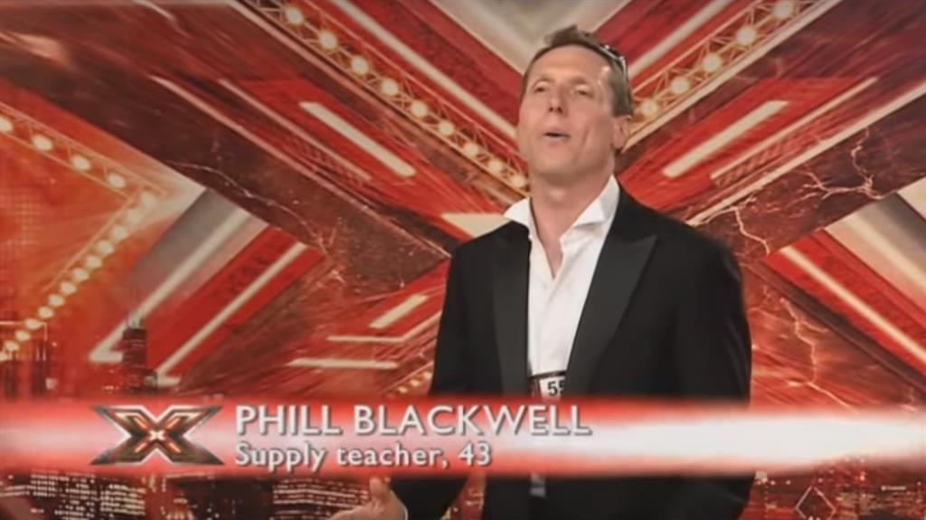 Desired notoriety: Phillip Blackwell during his X Factor audition in 2008