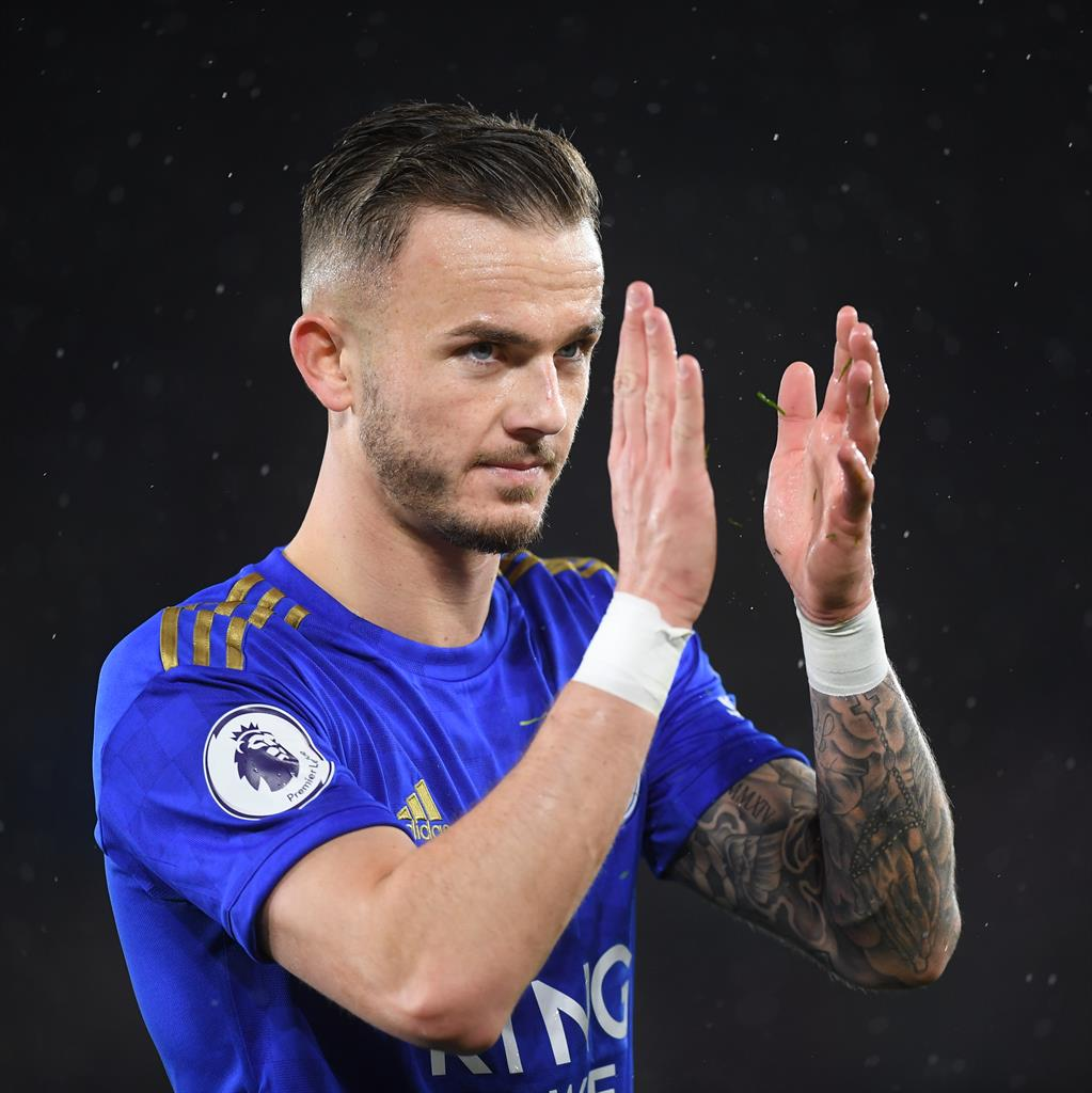 Happy to stay: Maddison is set to snub a move to Manchester United