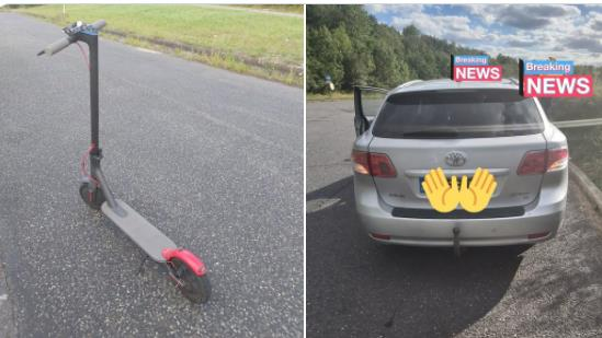 Fuel's errand: Man dumped car, right, and rode scooter to cross M11 PICTURE: ESSEX RPU