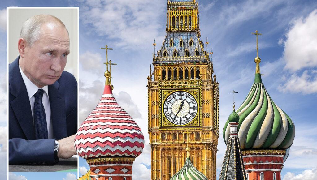 Vlad influence: Russian president Vladimir Putin has his sights on Britain