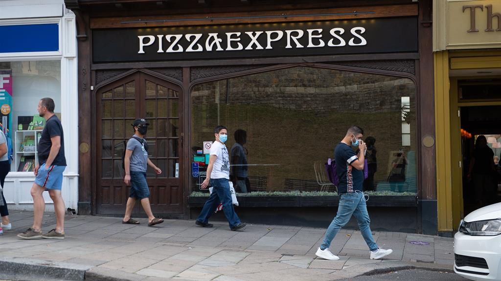 Sliced out: A PizzaExpress outlet in Windsor, Berkshire, that still remains closed PICTURE: REX