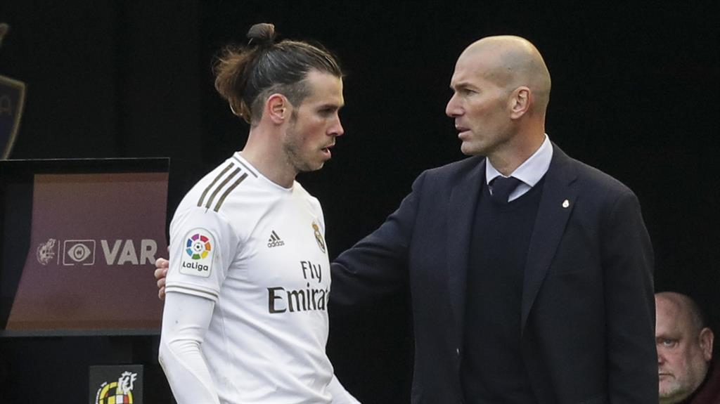 Difficult relationship: Bale and Zidane PICTURE: GETTY