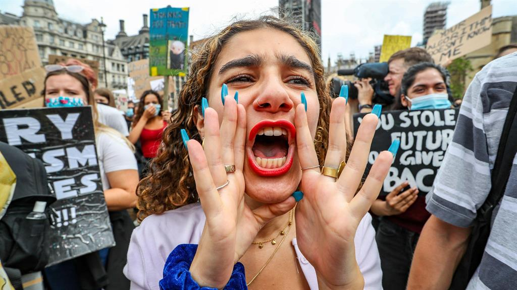 Listen to us: Students in Parliament Square yesterday PICTURES: ALAMY/REUTERS/PA/GETTY