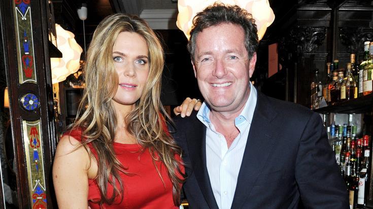 Break-in: Piers Morgan with Celia Walden and (below) the Côte d'Azur villa PICTURES: REX