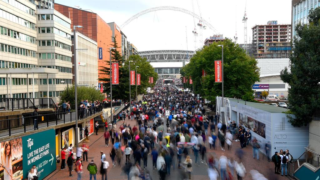 No fan-tasy: Spectators look set for a return to Wembley PICTURE: GETTY