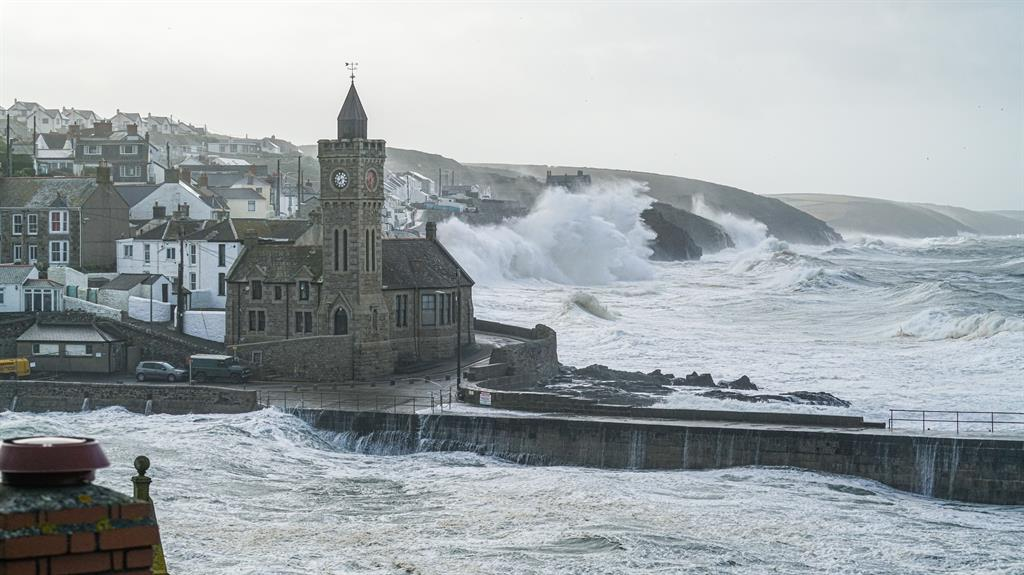 More to come: Waves caused by Storm Ellen strike the south-west coast at Porthleven, Helston, Cornwall, last week PICTURE: GETTY