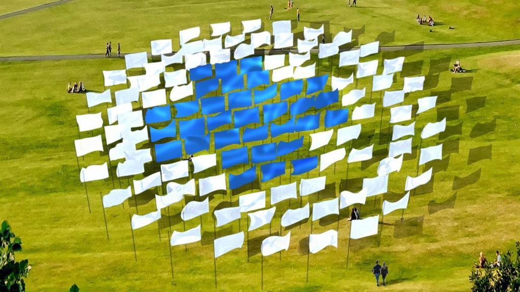 Sheets ahead: An artist's impression of Luke Jerram's In Memoriam