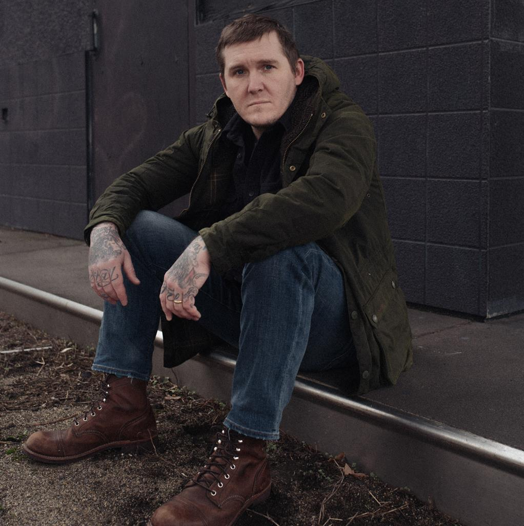 Life of Brian: The singer is happy with where he is, even if it has meant changing his live show. Below: With The Gaslight Anthem in 2018