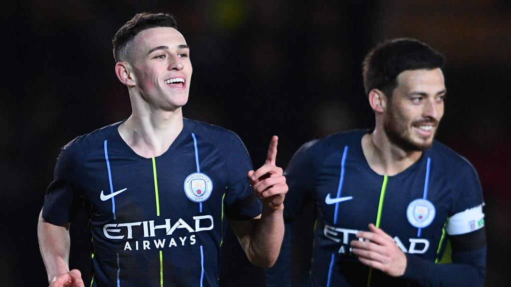 Role model: Foden says Silva (right) was the player he looked up to at City PICTURE: GETTY