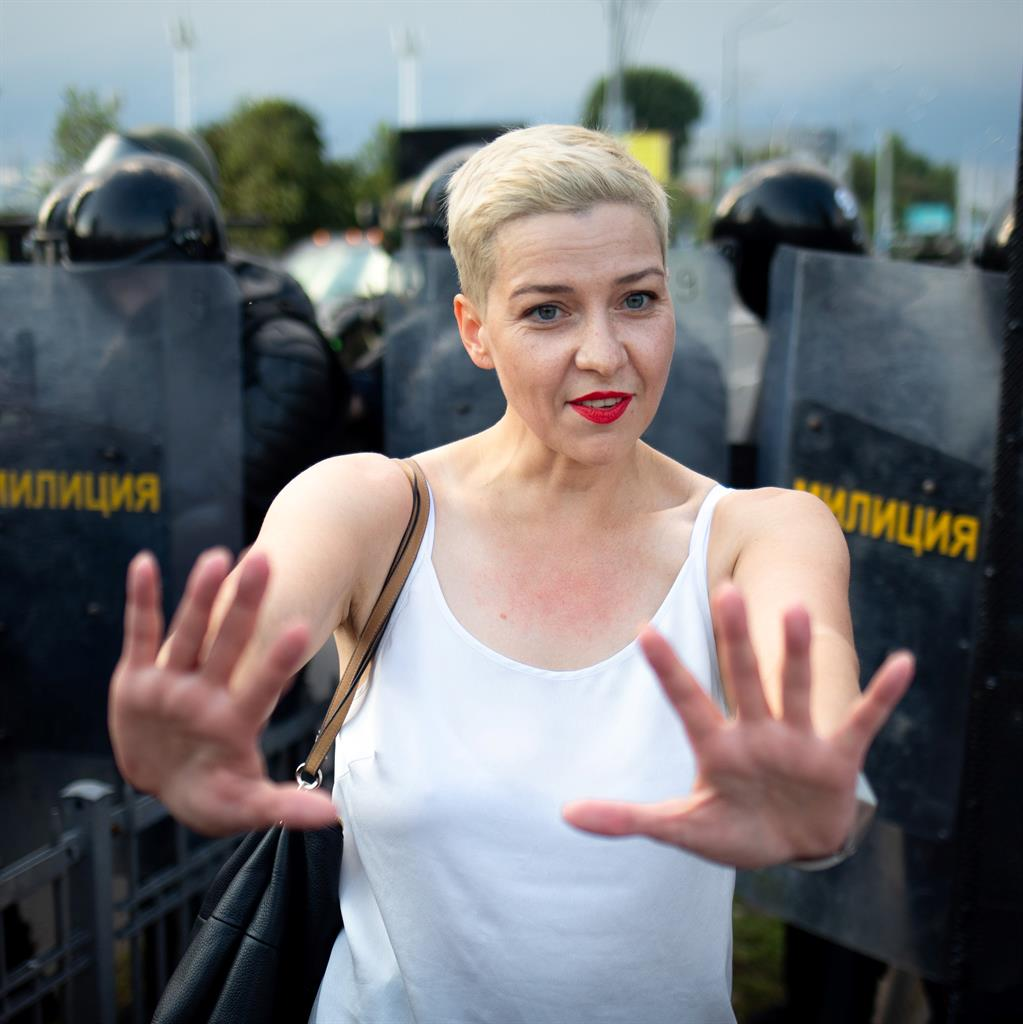Top Belarus activist says authorities threatened to kill her