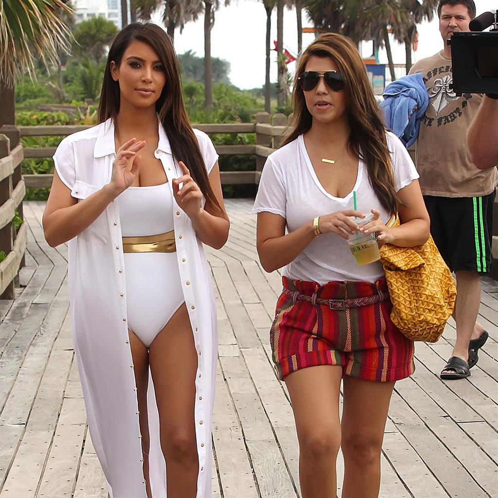 White hot: Kim and Kourtney were little known socialites when the show started
