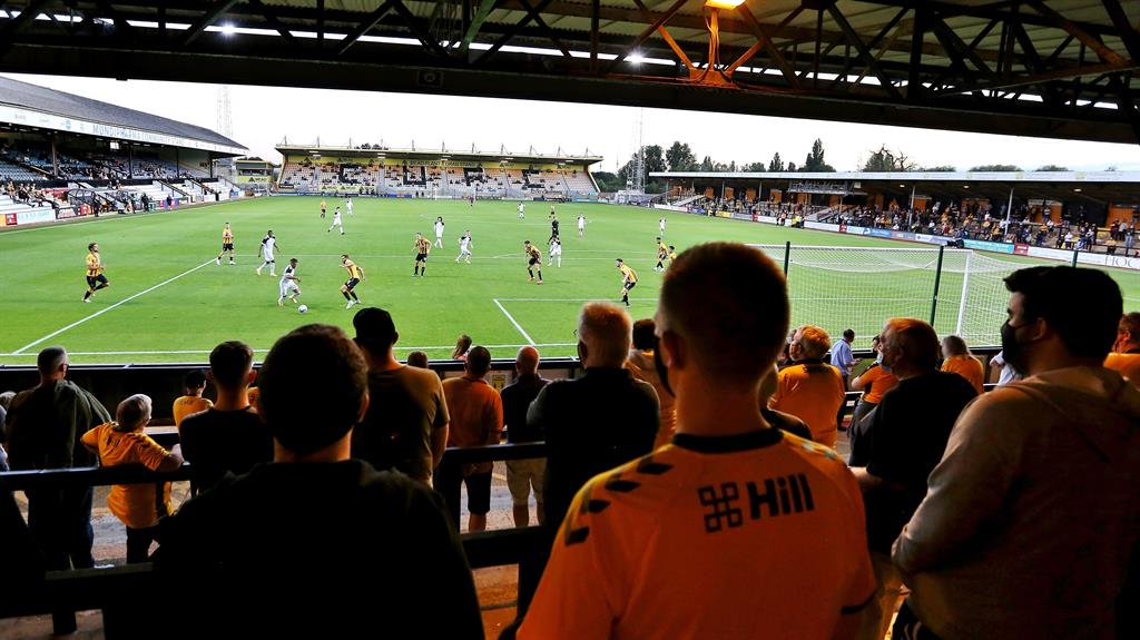 Abbey days: Fans did at least get to see some football in the flesh this week PICTURE: REX