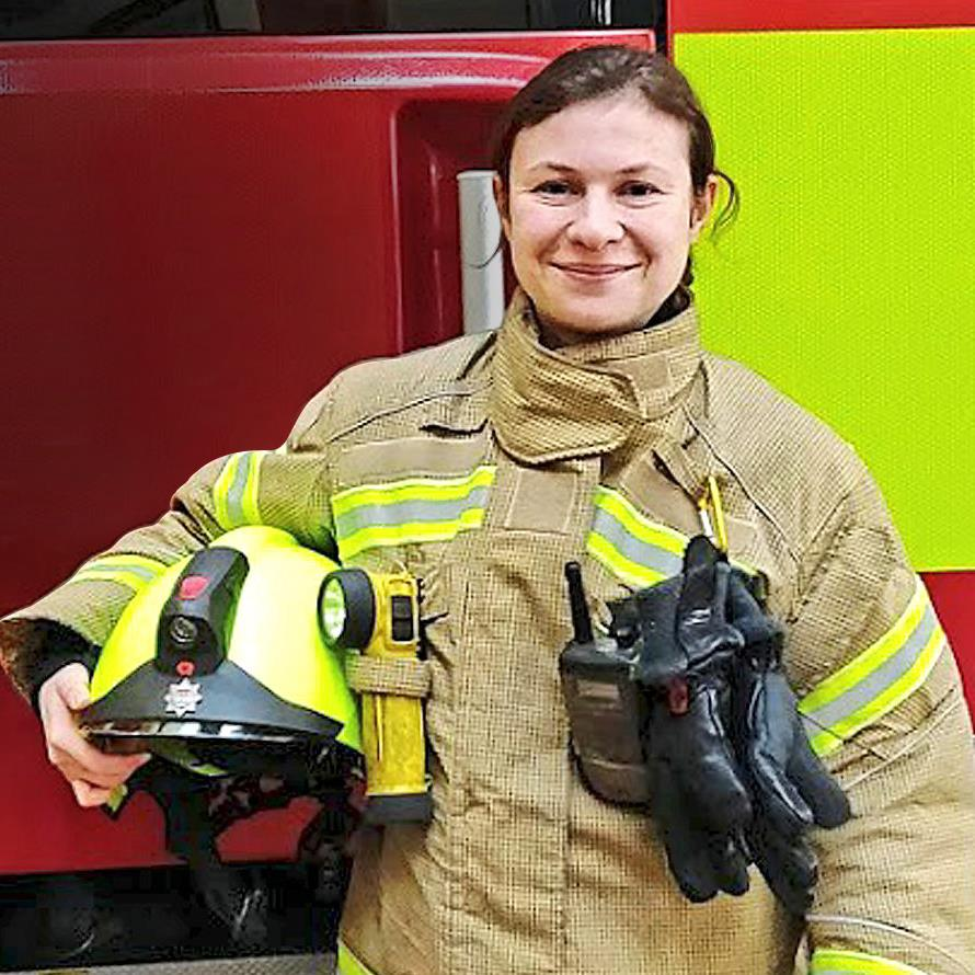 Proud: Izzy says the service attends everything from traffic collisions to animal rescues too PICTURE: LONDON FIRE BRIGADE
