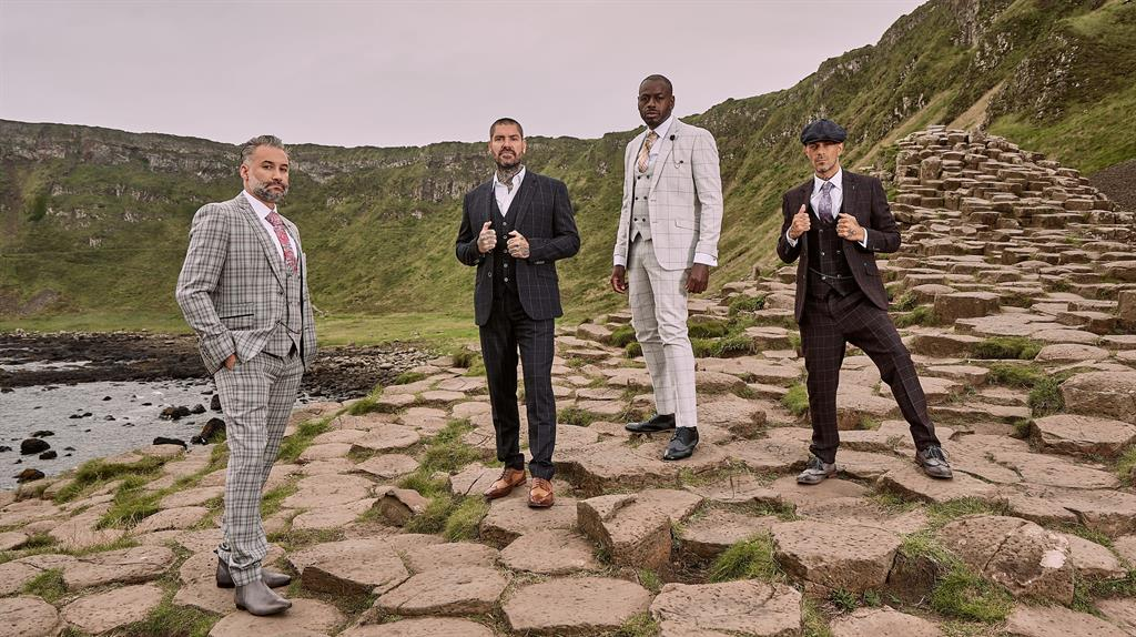 Boyz to men: Dane Bowers, Shane Lynch,Ben Ofoedu and Abz Love, left to right PICTURE: PA