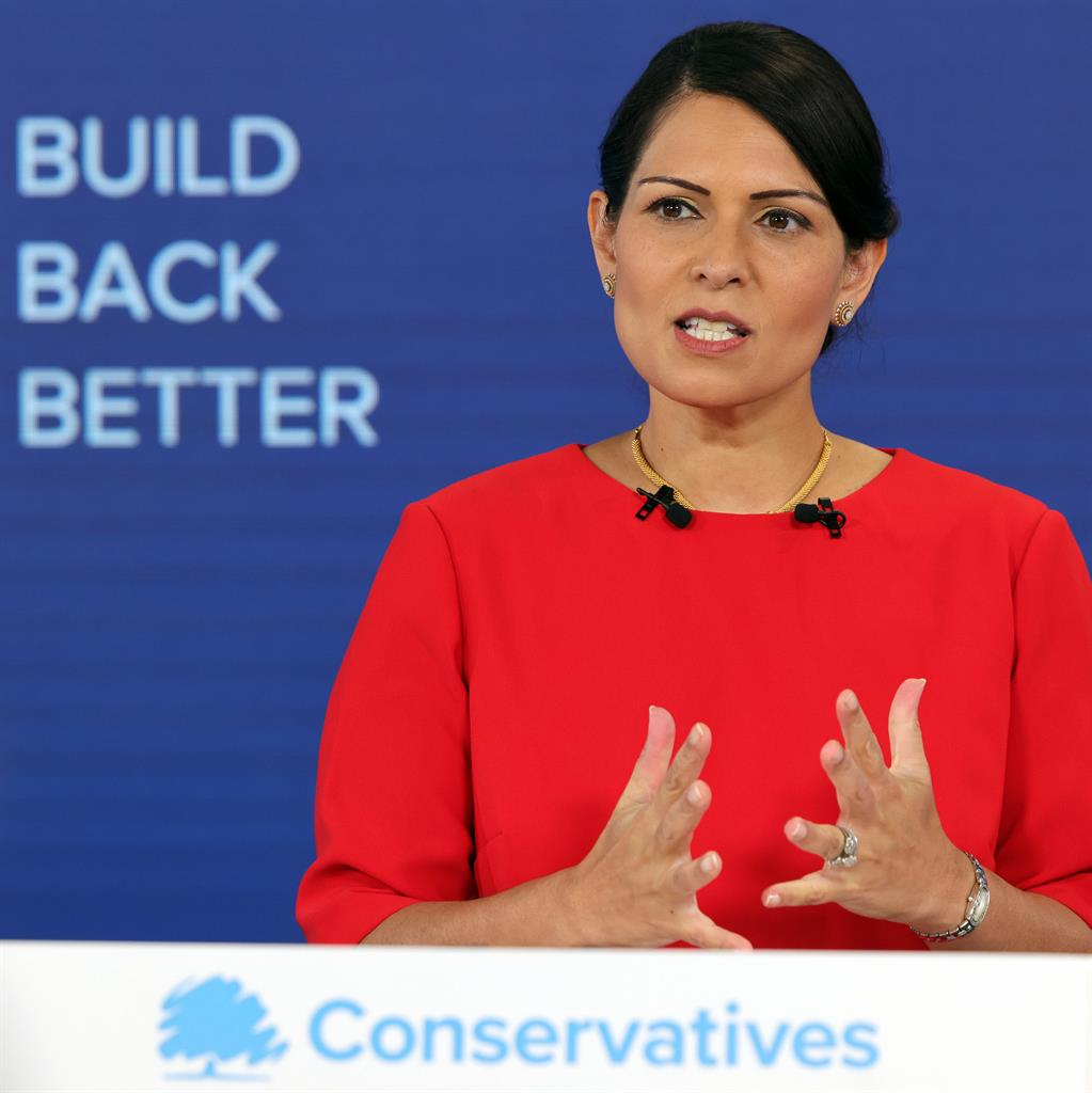 Pledge: Patel told Tory conference 'system is broken'