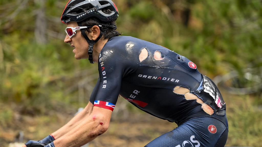 Geraint Thomas sees his Giro d'Italia hopes go up in smoke