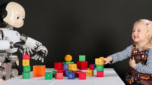 Building blocks: Robots will need to learn from scratch, like infants PICTURE: EPSRC/ALEXANDER JAMES SPENCE