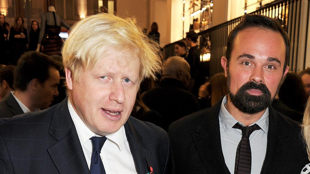 Handed peerage: Evgeny Lebedev (right) with Mr Johnson PICTURE: GETTY