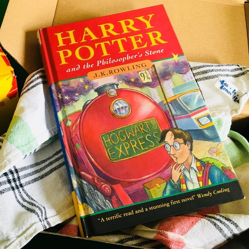 Boy wizard: The first edition arrived at the auction house wrapped in a tea towel PICTURE: PA