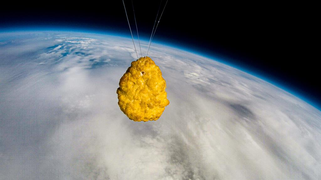High tea: The nugget in space PICTURE: SWNS