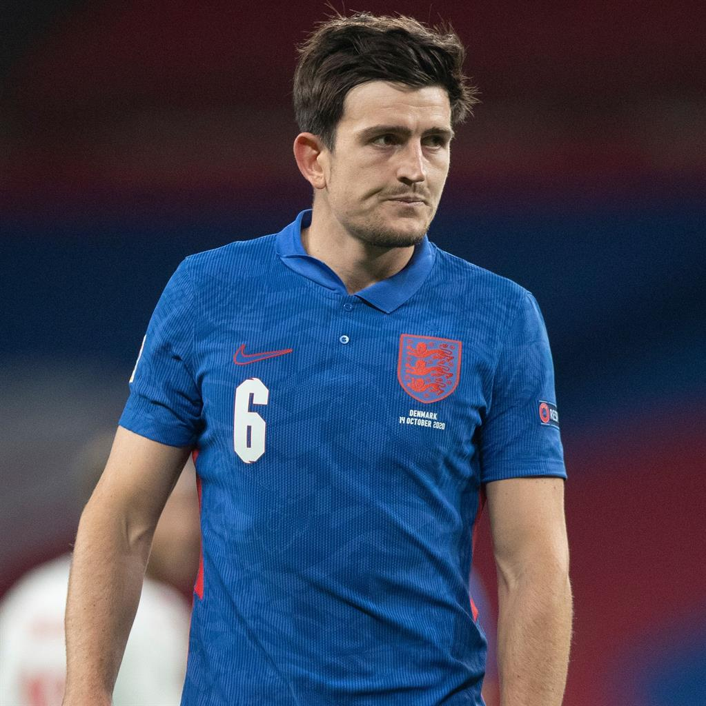 Early doors: Maguire was sent off during England's game against Denmark