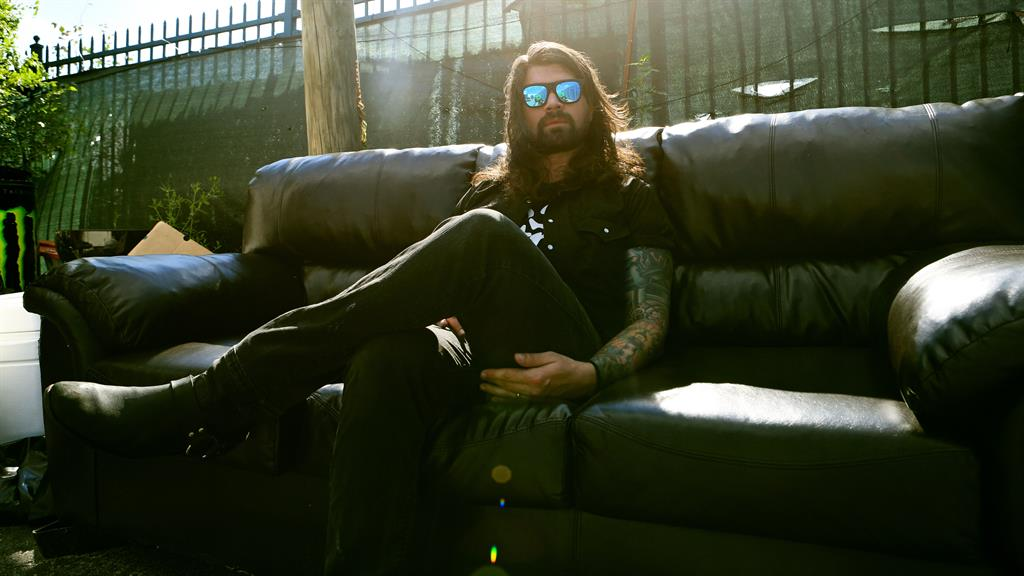 Sitting comfortably: Playing Taking Back Sunday songs solo has given Adam new respect for his bandmates