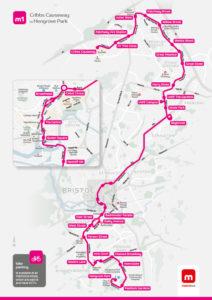 Metrobus m1 route map