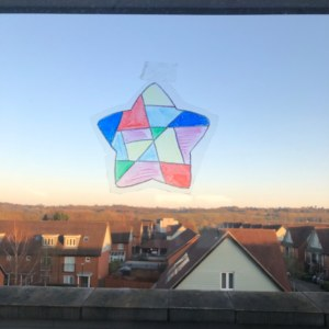Star on window
