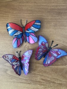 Finished butterflies