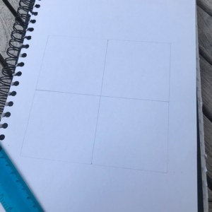 Make a cross pattern