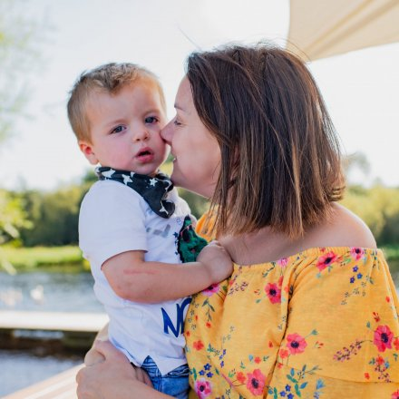 Sarah and her son.