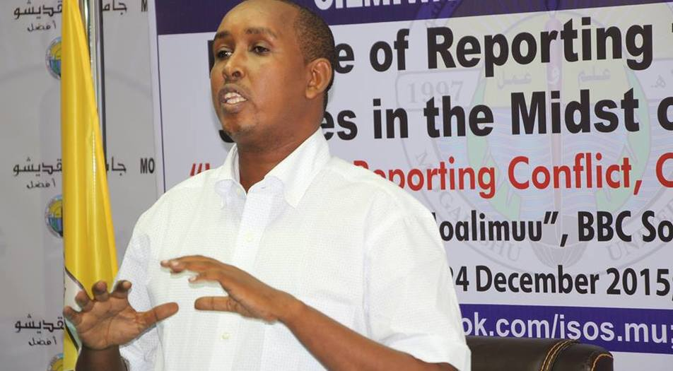 Mohamed Ibrahim Moalimuu, the Secretary General of the National Union of Somali Journalists (NUSOJ)