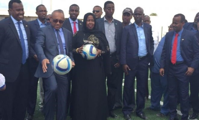 CAF president arrives in Mogadishu on official visit