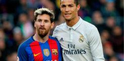 Sideey u muuqan doontaa Kubadda cagta marka ay ka fariistaan C.ronaldo & Messi?
