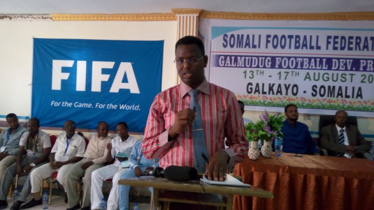 Somali Football Federation Chief Media officer Shafi'i Mohyaddin Abokar (ISLOW)