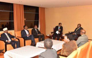 Kampala : Madaxweyne Farmaajo oo la kulmay madaxweynaha Uganda
