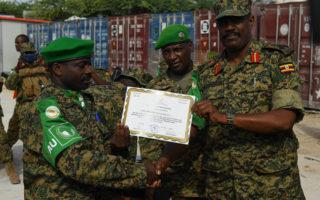 Somalia :Ciidamo ka socdo Uganda oo Muqdisho soo gaaray