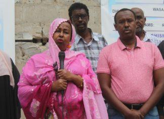 Somali minister for youth and sport, Hon Khadija Mohamed Diriye and Somali Football federation president, Abdiqani Said Arab